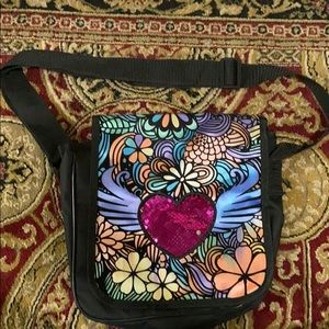 Other - Color yourself Shoulderbag with sequin flip heart